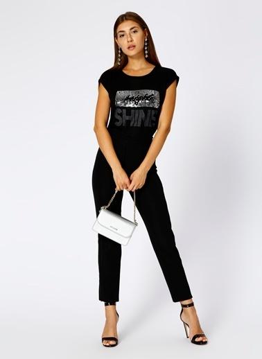 Fabrika Fermuar Detaylı Pantolon Siyah